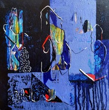 Abstract Acrylic Art Painting title Untitled 18 by artist Vivek Nimbolkar