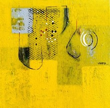Abstract Acrylic Art Painting title Untitled 20 by artist Vivek Nimbolkar