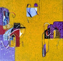 Abstract Acrylic Art Painting title Untitled 21 by artist Vivek Nimbolkar