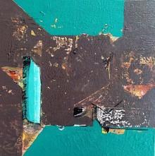 Abstract Acrylic Art Painting title Untitled 23 by artist Vivek Nimbolkar