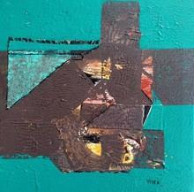 Abstract Acrylic Art Painting title Untitled 24 by artist Vivek Nimbolkar
