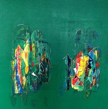 Abstract Acrylic Art Painting title Untitled 27 by artist Vivek Nimbolkar
