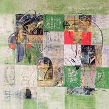 Abstract Acrylic Art Painting title Untitled 28 by artist Vivek Nimbolkar