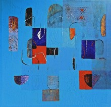 Abstract Acrylic Art Painting title Untitled 34 by artist Vivek Nimbolkar