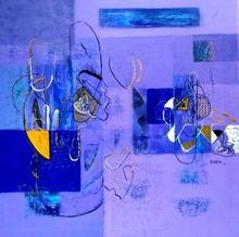 Abstract Acrylic Art Painting title Untitled 35 by artist Vivek Nimbolkar