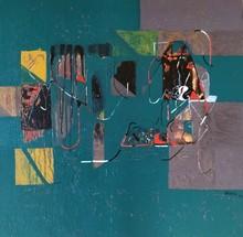 Abstract Acrylic Art Painting title Untitled 41 by artist Vivek Nimbolkar