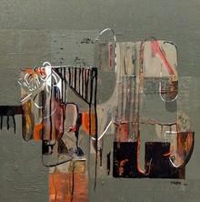 Abstract Acrylic Art Painting title Untitled 43 by artist Vivek Nimbolkar