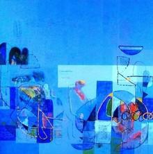 Abstract Acrylic Art Painting title Untitled 50 by artist Vivek Nimbolkar