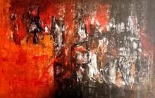 Abstract Acrylic Art Painting title Untitled 51 by artist Vivek Nimbolkar