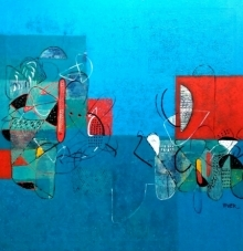 Untitled 7 | Painting by artist Vivek Nimbolkar | acrylic | Canvas