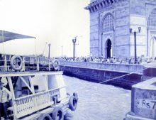 Pen Paintings | Drawing title Day at Gateway on Paper | Artist M. I. Shaikh