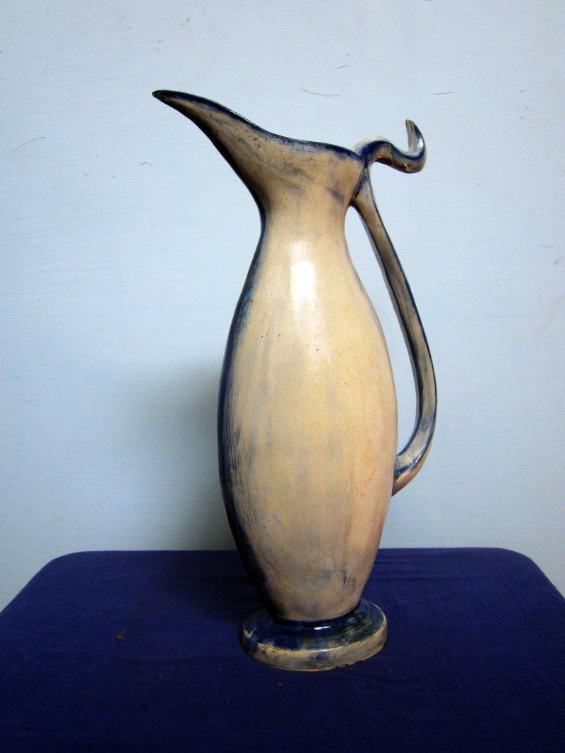 Bird beak long Pot | Ceramic by artist DULAL CHANDRA MANNA | Ceramic