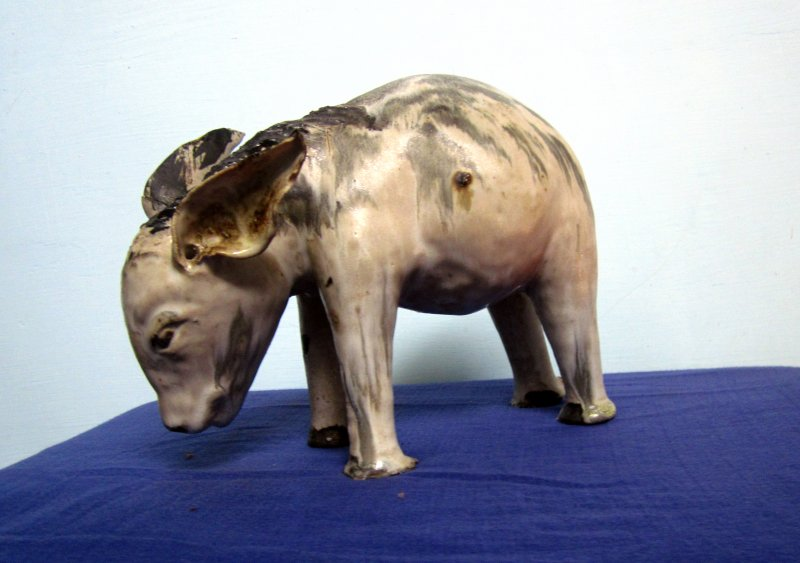 Puggy a animal | Ceramic by artist DULAL CHANDRA MANNA | Ceramic