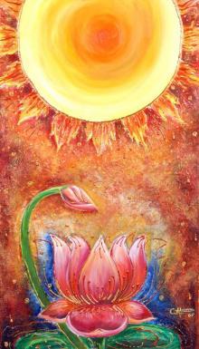 Light And Life   Mixed_media by artist Abarna   Canvas