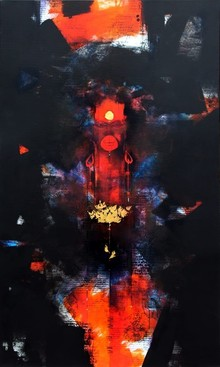 Religious Acrylic Art Painting title Hanuman Ji by artist Amol Pawar