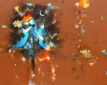 Figurative Acrylic Art Painting title Uma Pati 2 by artist Amol Pawar
