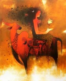 Figurative Acrylic Art Painting title Untitled by artist Amol Pawar