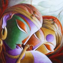 Figurative Acrylic Art Painting title Mayavi 19 by artist Dhananjay Mukherjee