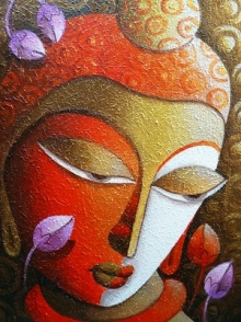 Buddha 2 | Painting by artist Dhananjay Mukherjee | acrylic | Canvas