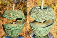 Brass Sculpture titled 'Apple 21' by artist Prabhakar Singh