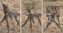 chair, creative chair, contemperory, tree, roots