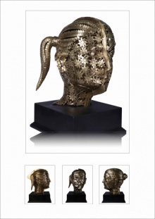 Brass Sculpture titled 'Untitled 1' by artist Prabhakar Singh