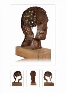 Iron, Brass Sculpture titled 'Untitled 11' by artist Prabhakar Singh