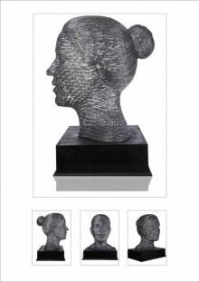 Iron Sculpture titled 'Untitled 13' by artist Prabhakar Singh