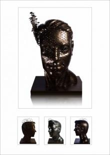 Iron Sculpture titled 'Untitled 7' by artist Prabhakar Singh