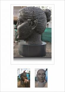 Iron Sculpture titled 'Untitled 9' by artist Prabhakar Singh