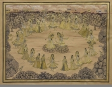 Pushkar Lohar | Pichwai Traditional art title Pichwai 11 on Cotton Cloth | Artist Pushkar Lohar Gallery | ArtZolo.com