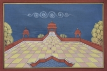 Traditional Indian art title Pichwai 7 on Cotton Cloth - Pichwai Paintings
