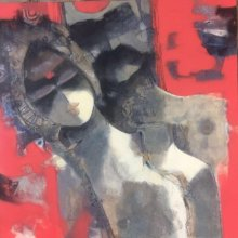 Sachin Jaltare | Acrylic Painting title Couple on Canvas | Artist Sachin Jaltare Gallery | ArtZolo.com