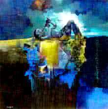 Fantasy Acrylic Art Painting title Its My Choice by artist Pradip Sengupta