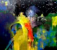 Fantasy Acrylic Art Painting title Wish Tree by artist Pradip Sengupta