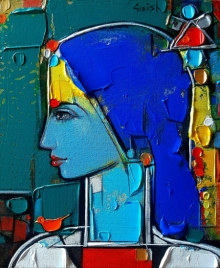 Figurative Acrylic Art Painting title 'Untitled 23' by artist Girish Adannavar