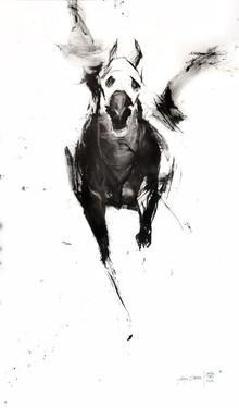 Animals Acrylic Art Painting title Airborne by artist Aditya Shirke