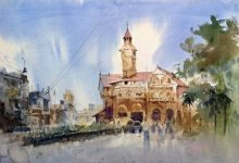 Crowford Market | Painting by artist Vikrant Shitole | watercolor | Paper