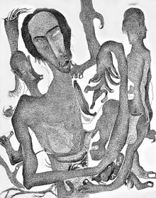 Pen Paintings | Drawing title Thirst 64 on Paper | Artist Nuril Bhosale