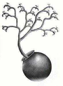 Pots/Vessels Pen Art Drawing title Thirst 73 by artist Nuril Bhosale