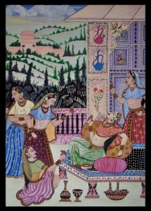 """Rani enjoying drink with her attendants 