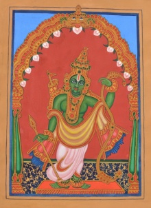 Traditional Indian art title Raama Avatara on Paper - Mysore Paintings