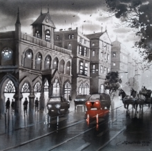 Cityscape Acrylic Art Painting title Mumbai Series 1 by artist NanaSaheb Yeole