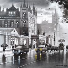 Cityscape Acrylic Art Painting title Mumbai Series 2 by artist NanaSaheb Yeole