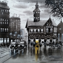 Cityscape Acrylic Art Painting title Mumbai Series 6 by artist NanaSaheb Yeole