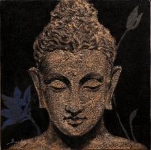 Religious Acrylic Art Painting title Lord Buddha Meditation 1 by artist Sulakshana Dharmadhikari