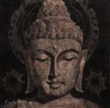 Figurative Acrylic Art Painting title Lord Buddha Meditation 2 by artist Sulakshana Dharmadhikari