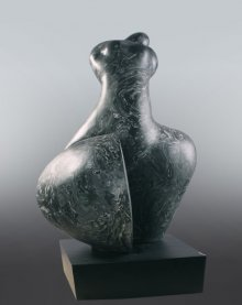 MAHESH ANJARLEKAR | Female Figure Sculpture by artist MAHESH ANJARLEKAR on Synthetic stone | ArtZolo.com