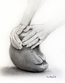 Self - Shaping | Drawing by artist Sundeep Kumar | | charcoal | Paper