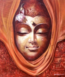 Buddha 1 | Painting by artist Jiban Biswas | acrylic | Canvas